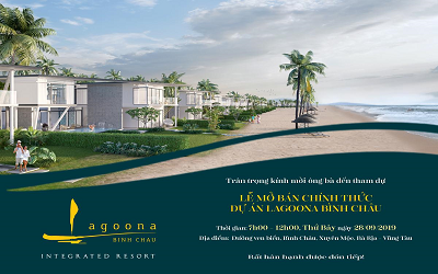 Tâm điểm thị trường bất động sản nghỉ dưỡng - Lễ mở bán Lagoona Bình Châu
